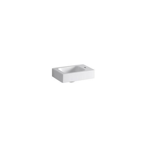 Geberit Keramag iCon Handwaschbecken B:38xT:28cm 1 Hahnloch rechts ohne Überlauf weiß mit KeraTect 124736600