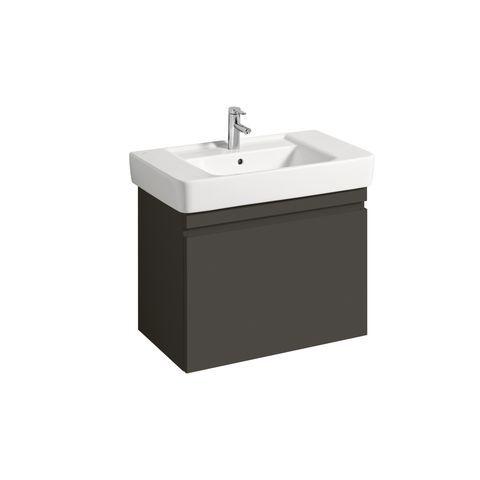Geberit Keramag Renova Plan Waschtischunterschrank mit 1 Auszug und 1 Schublade B:776xT:438xH:586mm lava matt 869851000