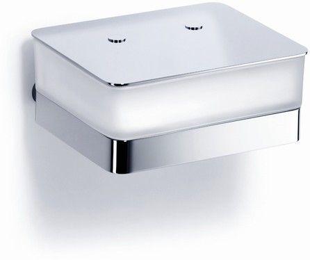 Giese Von der Rolle WC-Uno Glasbehälter für Feuchtpapier Kristallglas satiniert chrom 31771-02