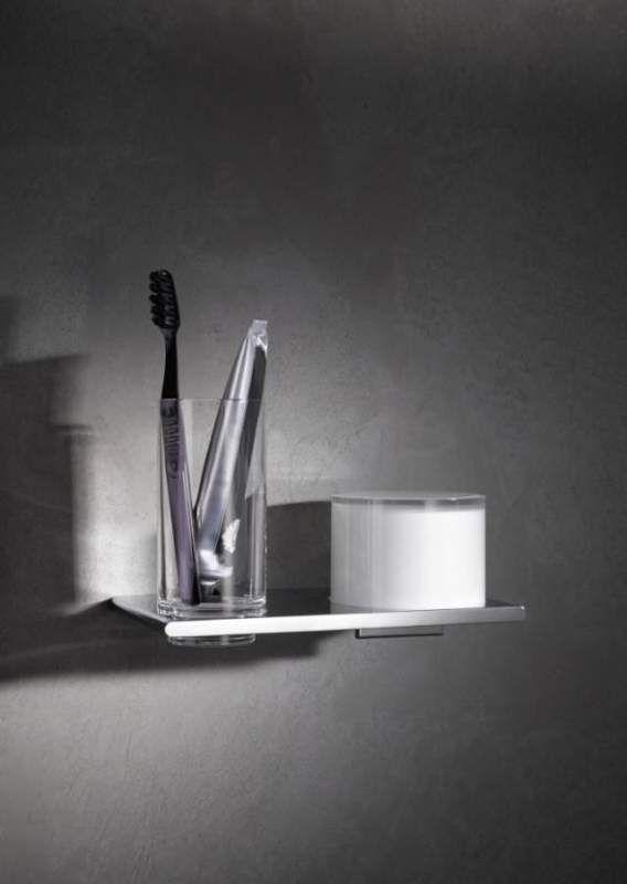 Keuco Edition 400 Doppelhalter Glas und Lotionspender für Wandmontage 11553019000