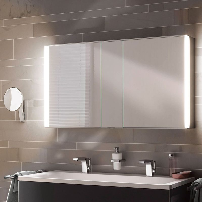 Keuco ROYAL MATCH Spiegelschrank mit LED-Beleuchtung B:1200xH:700xT:160 mm 12804171301