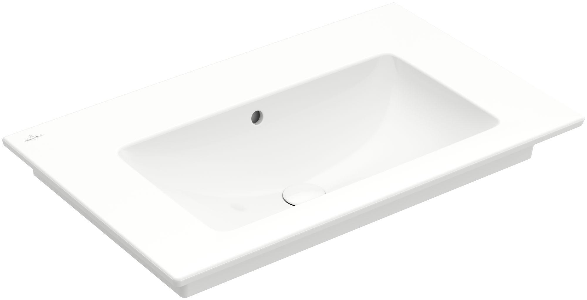 Villeroy & Boch Venticello Möbelwaschtisch B:80xT:50cm ohne Hahnloch mit Überlauf weiß 41048J01