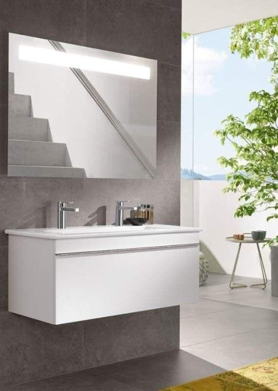 Villeroy & Boch Venticello Möbelwaschtisch B:100xT:50cm ohne Hahnloch mit Überlauf weiß 4104AJ01
