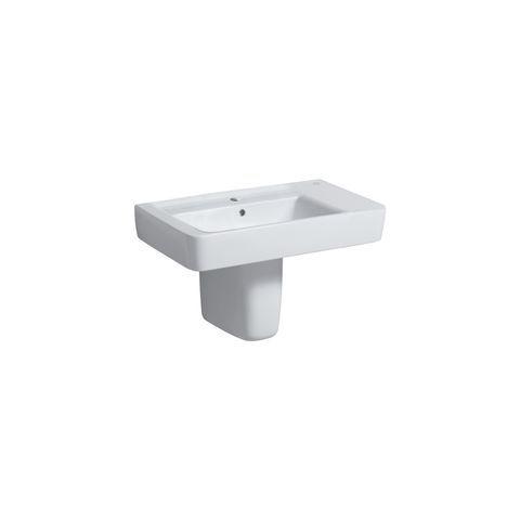 Geberit Keramag Renova Plan Waschtisch B:75xT:48cm 1 Hahnloch mit Überlauf weiß mit KeraTect 122180600