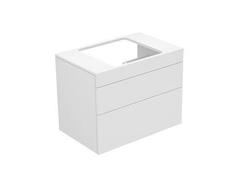 Keuco Edition 400 Waschtischunterbau 2 Frontauszüge 700 x 546 x 450 mm weiß/weiß 31598380001