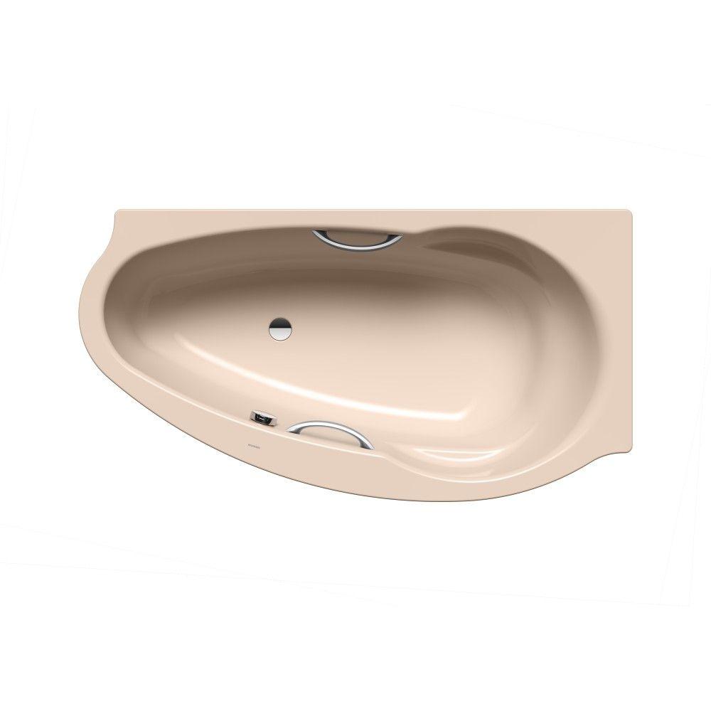 Kaldewei CONOFLAT Sonderform-Badewanne STUDIO LINKS 829-1 L:170xB:90cm mit Griffloch bahamabeige mit Perl-Effekt 222900013199