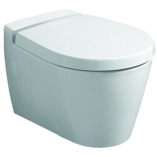 Geberit Keramag Visit WC-Sitz mit Absenkautomatik weiß, Scharniere Messing verchromt 576310000