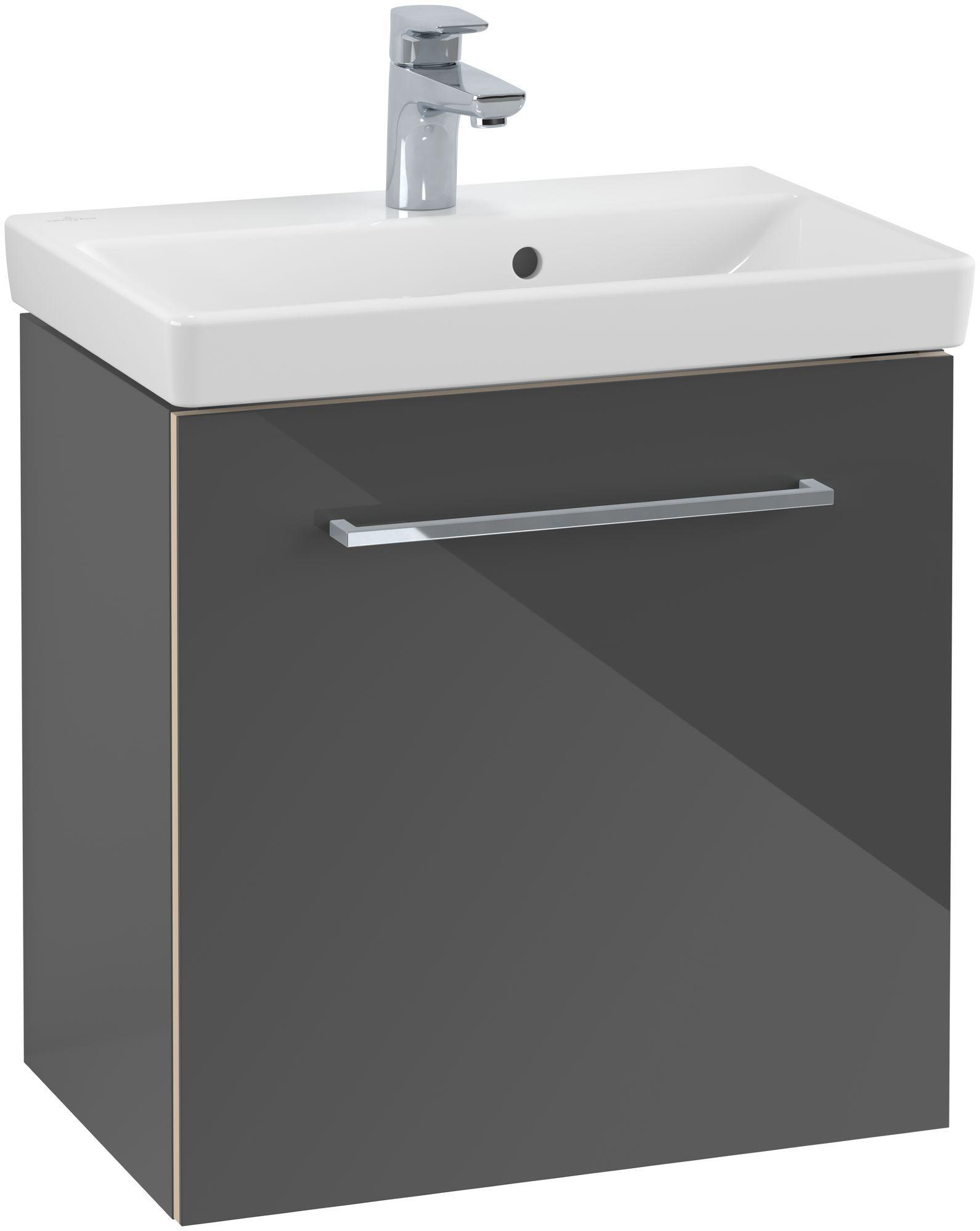 Villeroy & Boch Avento Waschtischunterschrank mit 1 Tür Türanschlag links B:51,2xH:52xT:34,8 cm crystal grey A88800B1