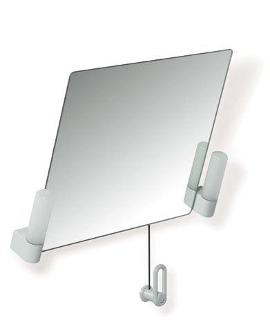 HEWI Kippspiegel mit Beleuchtung Serie 801 B:700mm H:540mm Lichtgrau 801.01.200 97