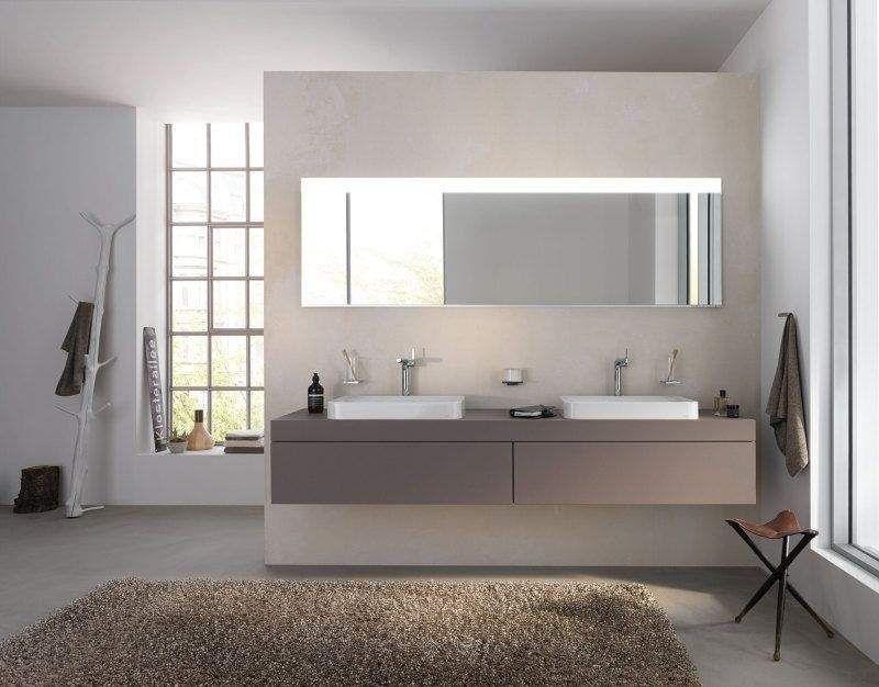 Keuco Edition 400 Lichtspiegel B:1410xH:650xT:33 mm mit Spiegelheizung silber eloxiert 11596172501