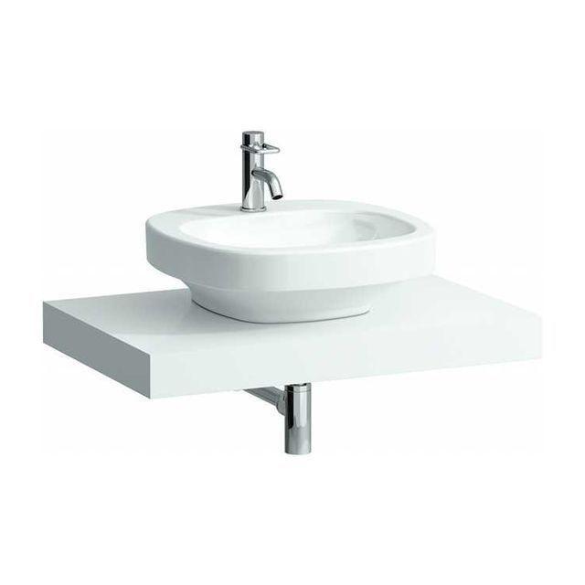 Laufen Case Waschtischplatte ohne Ausschnitt B:78xT:52cm weiß H4051200754631