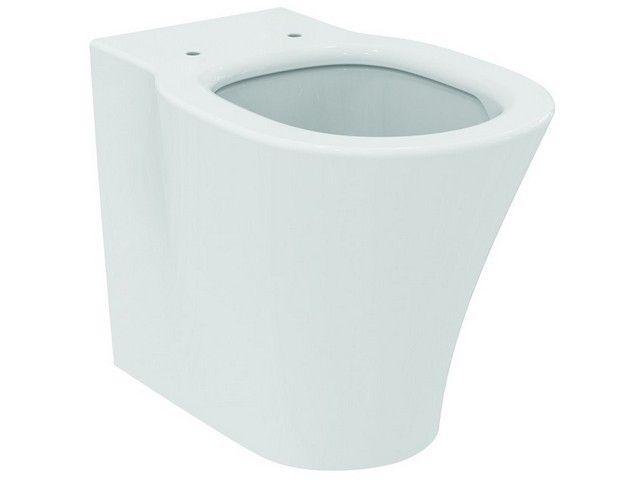 Ideal Standard Connect Air Stand-Tiefspül-WC B:36xH:40xT:54,5 cm Aquablade spülrandlos Abgang verdeckt waagerecht Kristallporzellan weiß mit Ideal Plus E0042MA
