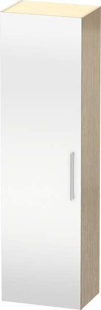 Duravit Vero Hochschrank B:50xH:176xT:36cm 1 Spiegeltür Türanschlag links eiche gebürstet VE1176L1212