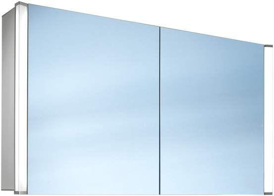 Schneider Elualine LED Spiegelschrank B:80xH:68,6xT:13,5cm 2 Türen Alu eloxiert 162.080.02.50