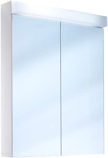 Schneider Lowline Spiegelschrank B:60xH:77xT:12cm 2 Türen weiß 151.061.02.02