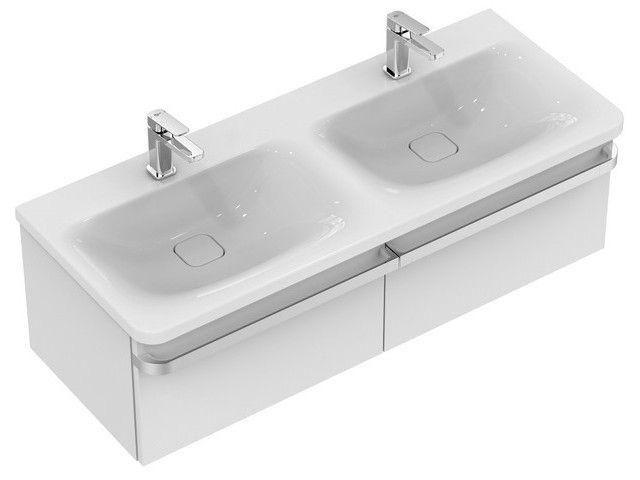 Ideal Standard TONIC II Waschtisch-Unterschrank 2 Auszüge 1200x440x350mm weiß hochglanz R4305WG