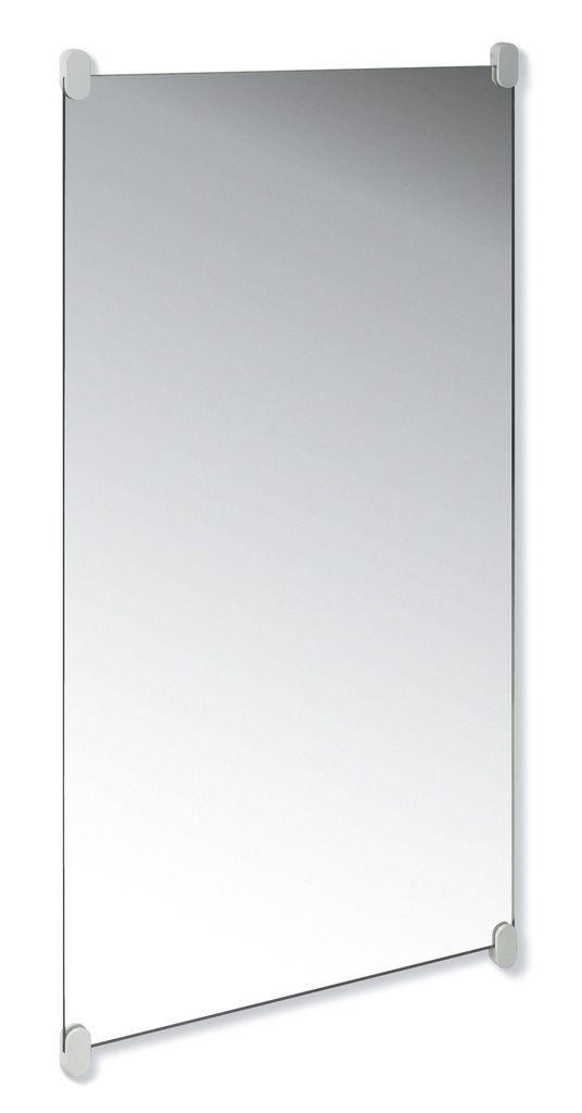 Hewi Serie 801 Wandspiegel mit Halter B:60xH:120cm aus Kristalglas abgeschliffene Kanten reinweiß 801.01.300 99