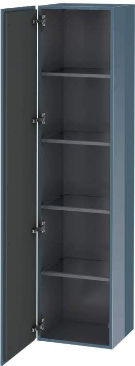 Duravit L-Cube Hochschrank B:40xH:176xT:36,3cm 1 Tür Türanschlag links stone blue hochglanz LC1180L4747