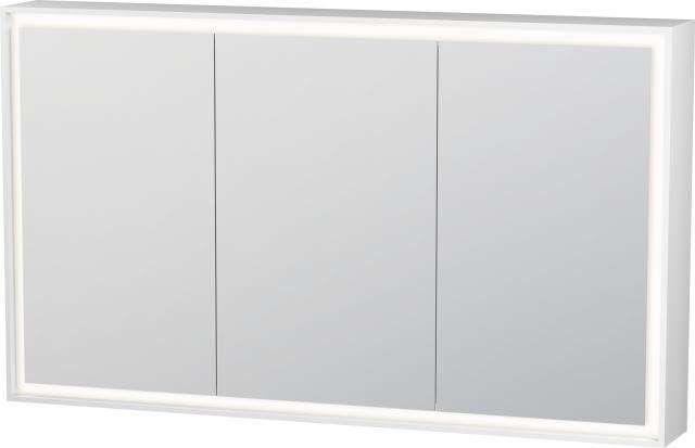 Duravit L-Cube Spiegelschrank mit Beleuchtung 700x1200x155mm mit LED Beleuchtung 52 W LC755300000