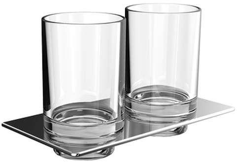 Emco art Doppelglashalter chrom Glasteil säuremattiert 162500100
