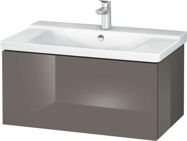 Duravit L-Cube Waschtischunterschrank wandhängend für 233285 B:82xH:40,5xT:48,1cm 1 Auszug flannel grey hochglanz LC614708989