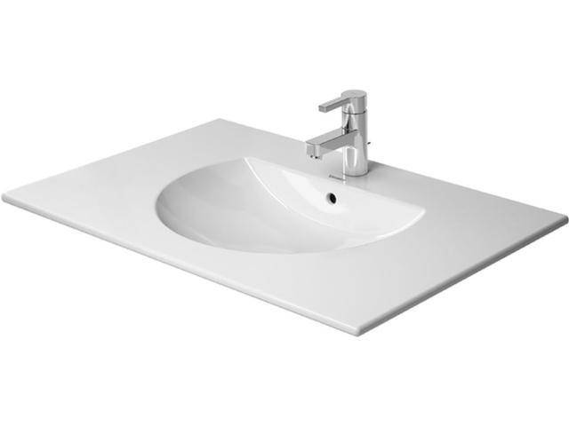 Duravit Darling New Möbelwaschtisch B:83xT:54,5cm 3 Hahnlöcher mit Überlauf weiß 0499830030