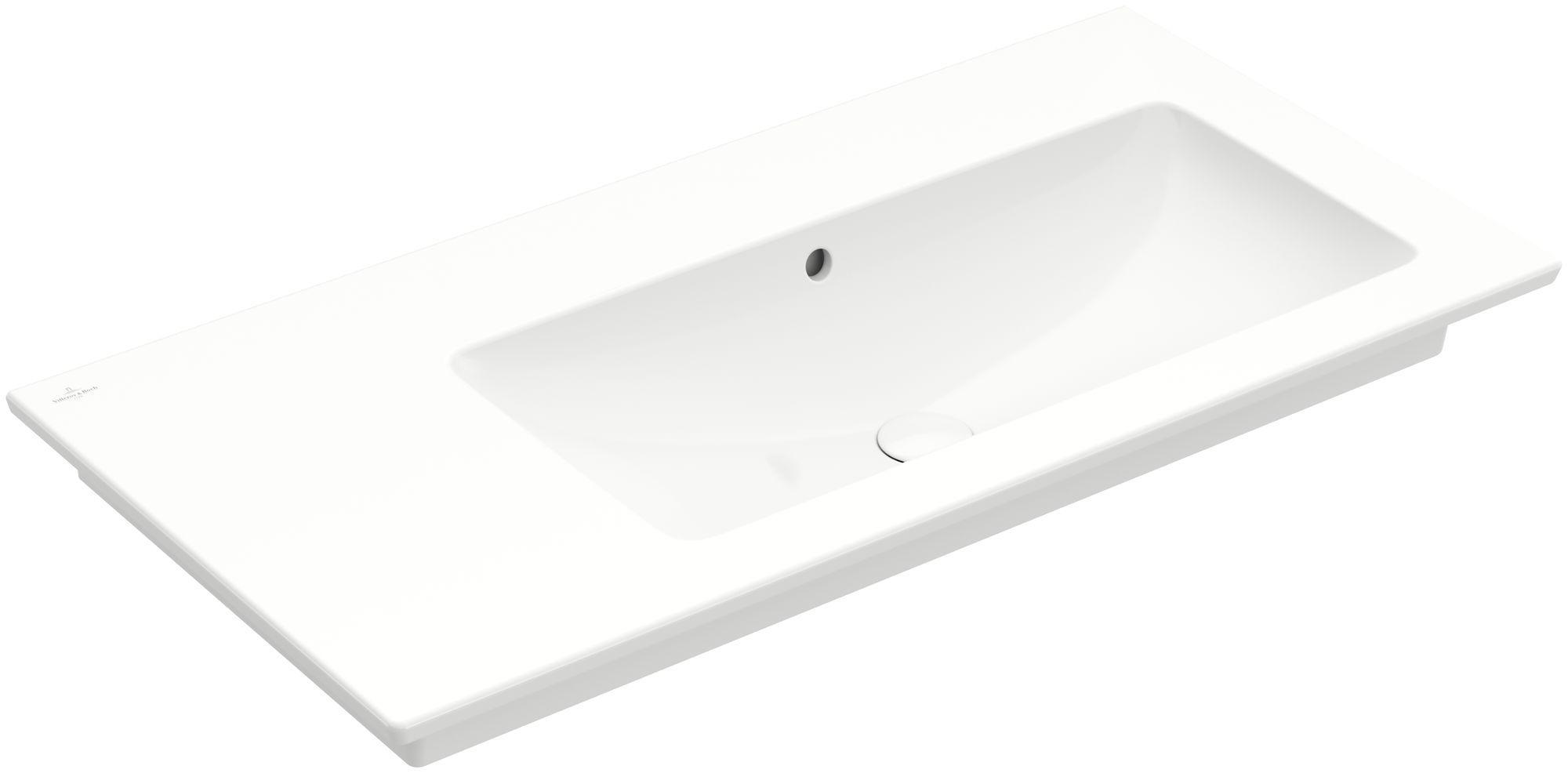 Villeroy & Boch Venticello Möbelwaschtisch B:100xT:50cm ohne Hahnloch mit Überlauf weiß 4134R301