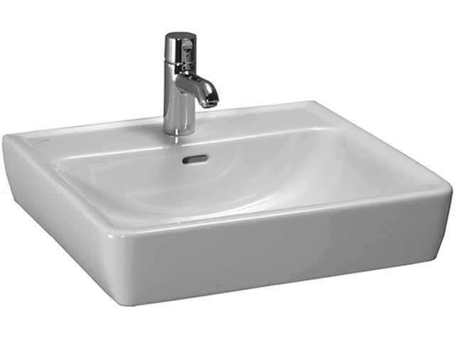 Laufen Pro Aufsatzwaschtisch B:55xT:48cm 1 Hahnloch mittig mit Überlauf weiß mit CleanCoat LCC H8179514001041