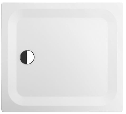 Bette Rechteck-Duschwanne superflach L:100xB:80xT:2,5cm mit Antirutsch weiß 5490-000AR