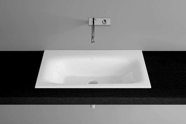 Bette Lux Einbauwaschtisch B:80xT:49,5H:1cm ohne Hahnloch ohne Überlauf weiß A161-000