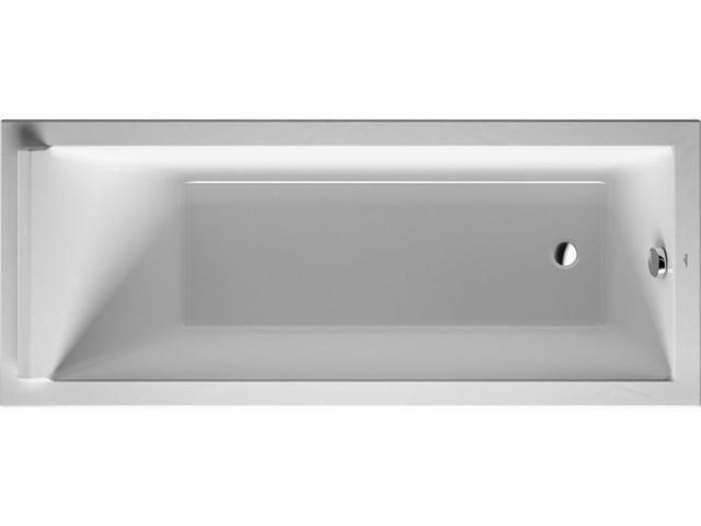 Duravit Starck Rechteck-Badewanne B:70xL:170cm Einbauversion mit 1 Rückenschräge weiß 700334000000000