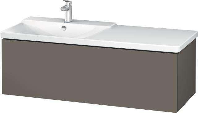 Duravit L-Cube Waschtischunterschrank wandhängend für 233312 B:122xH:40,5xT:48,1cm 1 Auszug flannel grey seidenmatt LC615309090