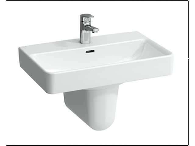 Laufen Pro S Waschtisch B:55xT:38cm 1 Hahnloch mittig mit Überlauf weiß H8189580001041