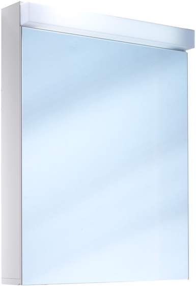 Schneider Lowline LED Spiegelschrank B:60xH:77xT:12cm 1 Tür Anschlag wählbar weiß 151.260.02.02