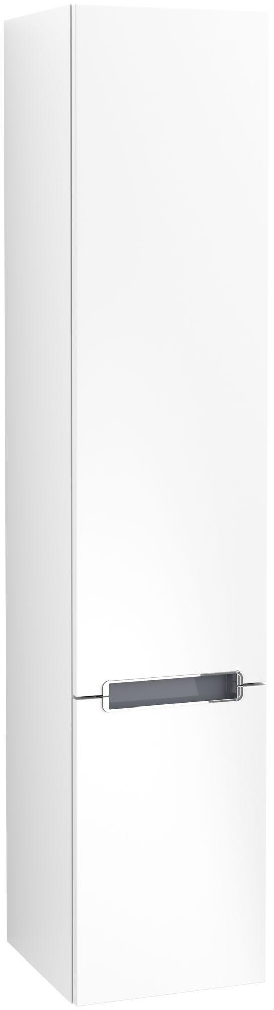 Villeroy & Boch Subway 2.0 Hochschrank 2 Türen Anschlag rechts B:350xT:370xH:1650mm weiß matt Griffe chrom A71010MS