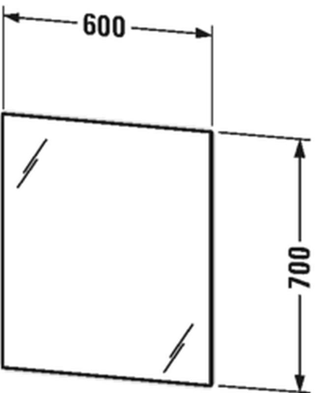 Duravit Licht&Spiegel mit indirekt-Beleuchtung mit Wandschaltung B:60xH:70xT:3,3 cm LM780500000