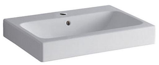 Geberit Keramag iCon Waschtisch B:60xT:48,5cm 1 Hahnloch mit Überlauf weiß mit KeraTect 124060600