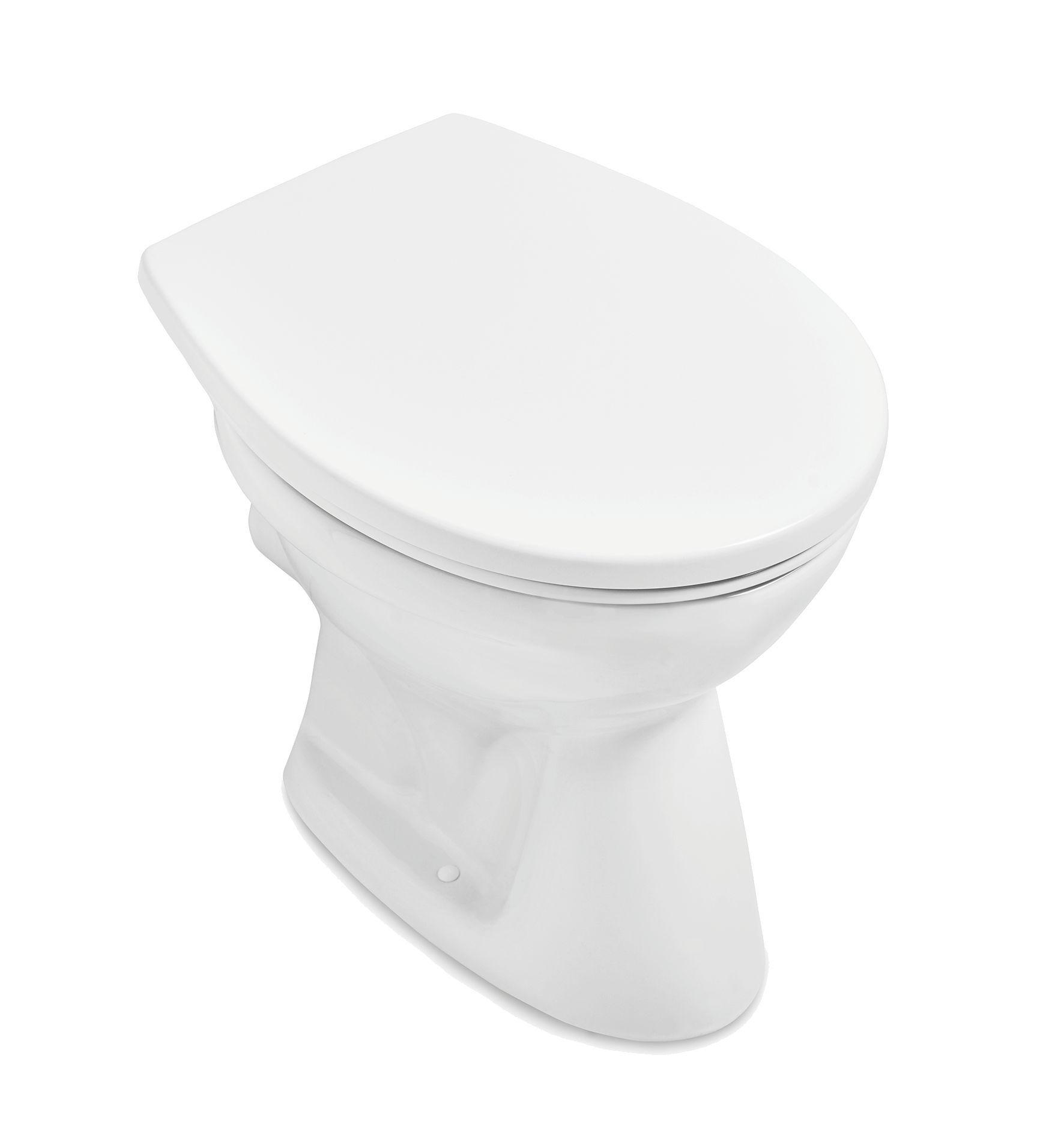 Villeroy & Boch O.novo Tiefspül-Stand-WC Abgang waagerecht L:45,5xB:35,5cm Weiß Alpin mit Ceramicplus 761810R1