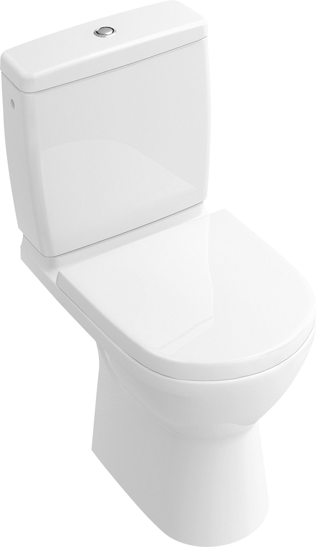 Villeroy & Boch O.Novo Compact Stand-Tiefspül-WC für Kombination L:61xB:36cm DirectFlush mit offenem Spülrand weiß mit CeramicPlus 5689R0R1