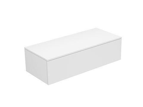 Keuco Edition 400 Sideboard wandhängend 1 Frontauszug 1050 x 289 x 450 mm weiß/Glas weiß klar 31751300001