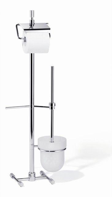 Giese Von der Rolle WC-Ständer mit Toilettenbürstengarnitur Kristallglas satiniert mit chrom 15731-02