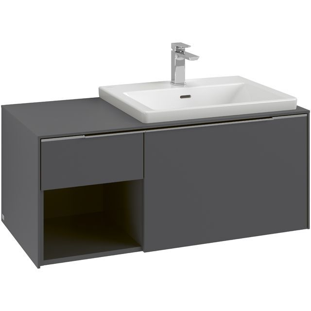 Villeroy & Boch Subway 3.0 Waschtischunterschrank 100,1x42,3x50cm 2 Auszüge Waschtisch rechts Cashmere Grey C57102VN