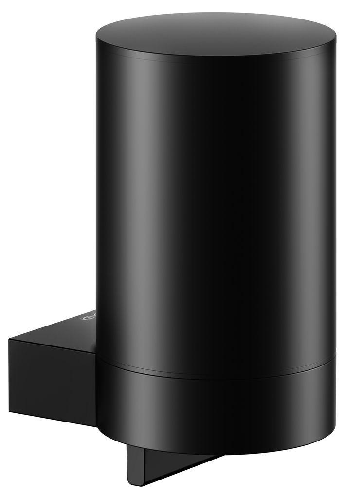 KEUCO Plan Lotionspender B:7,6xH:14xT:10,1cm mit Pumpe und Kunststoff-Einsatz schwarz 14951370000