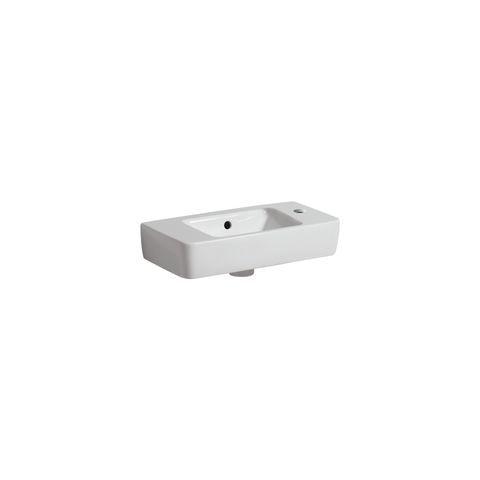 Geberit Keramag Renova Compact Handwaschbecken B:50xT:25cm 1 Hahnloch mit Überlauf weiß mit KeraTect 276150600
