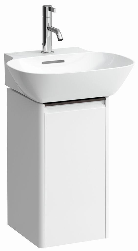 Laufen Waschtischunterbau Base 275x295 1 Tür Scharnier links mit Griff schwarz für Waschtisch H815301 weiss glänzend H4030131102611