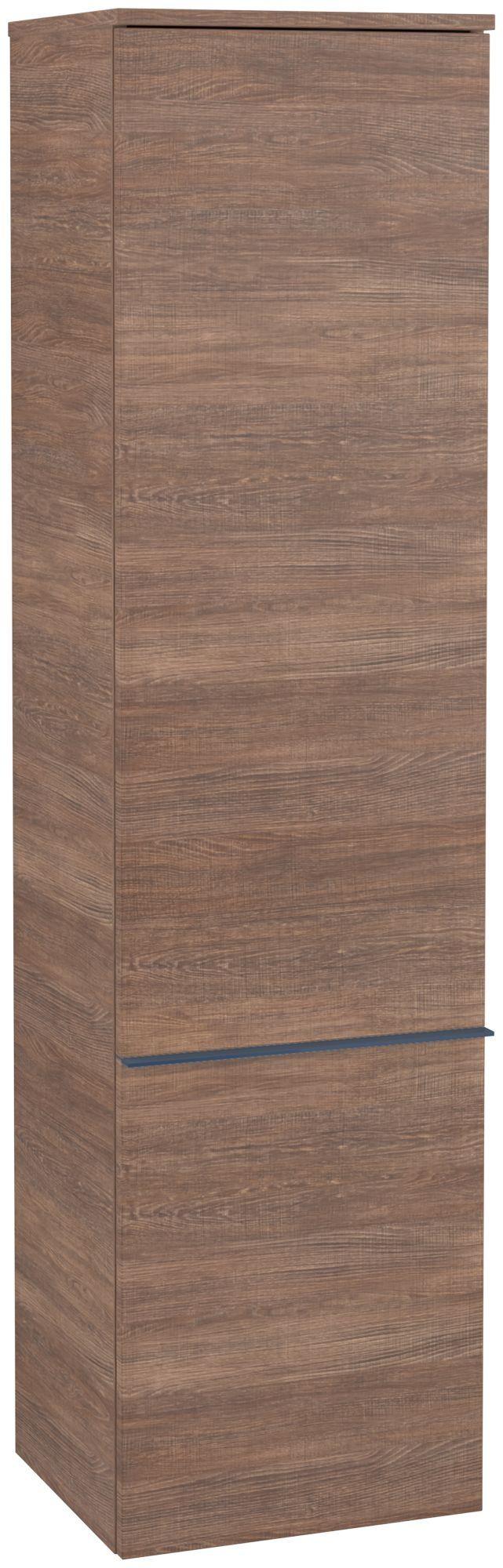 Villeroy & Boch Venticello Hochschrank 1 Tür Anschlag rechts B:404xT:372xH:1546mm santana oak Griffe blau A95114E1