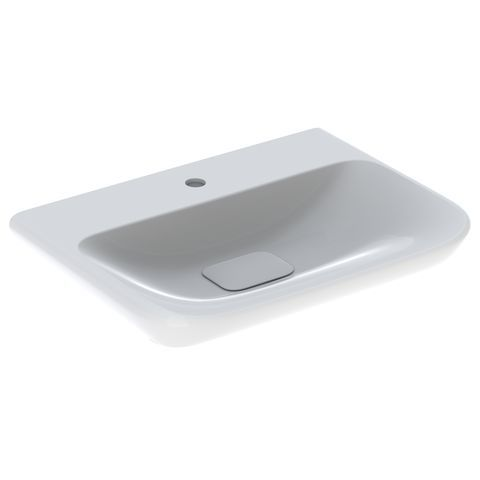 Geberit Keramag myDay Waschtisch B:65xT:48xH:13,5cm 1 Hahnloch ohne Überlauf weiß mit KeraTect 125465600