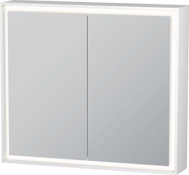 Duravit L-Cube Spiegelschrank mit Beleuchtung 700x800x155mm mit LED Beleuchtung 40 W LC755100000