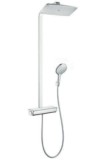 Hansgrohe Raindance Select 27112000 Showerpipe mit Kopfbrause Raindance E Air 1jet 360 mm chrom
