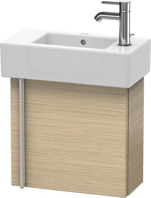 Duravit Vero Waschtischunterschrank wandhängend B:45xH:42,8xT:21,1cm 1 Tür Türanschlag rechts eiche gebürstet VE6270R1212